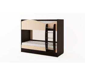 Кровать 2-х ярусная с ящиками (Венге/Беленый дуб)
