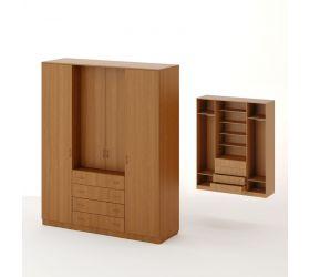 Шкаф распашной 4-х створчатый с 2 ящиками