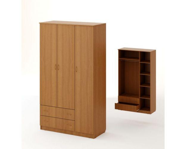 Шкаф распашной 3-х створчатый с 2 ящиками ШК-16
