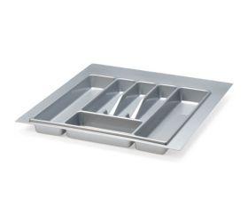 Вкладыш на 500мм для кухонных принадлежностей, серый металлик, ECO/25