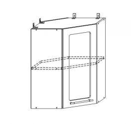 Монако ВПУС 550 шкаф верхний угловой