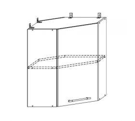 Монако ВПУ 600 шкаф верхний угловой