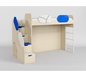 Кровать второй ярус с лестницей Футбол ЧМ
