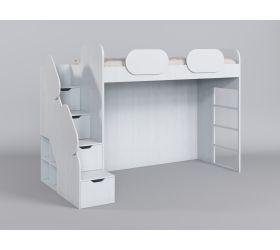 Кровать второй ярус с лестницей Классика