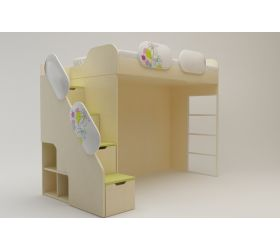 Кровать второй ярус с лестницей Флёр