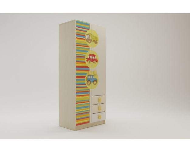 Шкаф 2-х створчатый с ящиками Клаксон