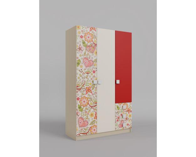 Шкаф 3-х створчатый с ящиками Ретвит