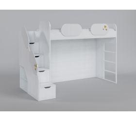 Кровать второй ярус с лестницей Совушки