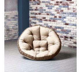 Кресло ОУСТЕР (Комбо бежево-шоколадный)