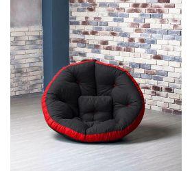 Кресло ОУСТЕР (Комбо черно-красный)