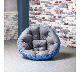 Кресло ОУСТЕР (Комбо серо-голубой)