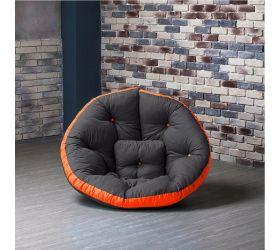 Кресло ОУСТЕР (Комбо серо-оражевый)