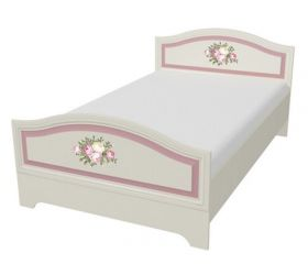 Алиса Кровать 1.2 белый/крем
