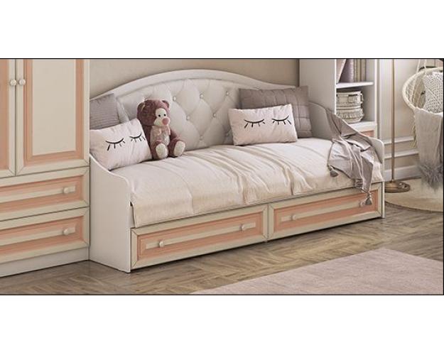 Алиса Кровать 0.8 (белый/крем)