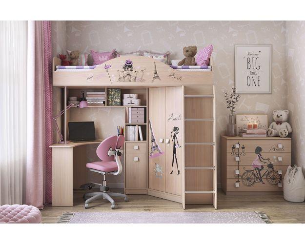 Амели Набор мебели Детский комплекс дуб млечный
