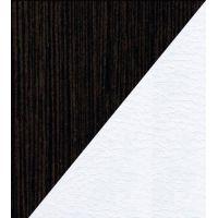 Чёрный(ЛДСП) / Белый(экокожа)