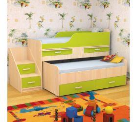 Детская двухместная кровать Лесики