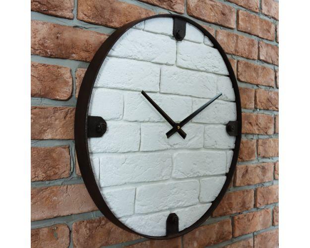 Часы настенные NT101 WHITE BRICK