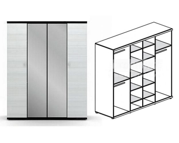 Шкаф 4-х дверный Гретта СБ-207