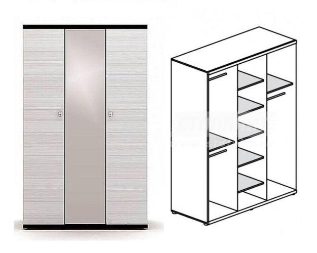 Шкаф 3-х дверный Гретта СБ-208