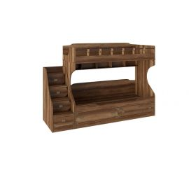 Кровать двухъярусная с приставной лестницей Навигатор