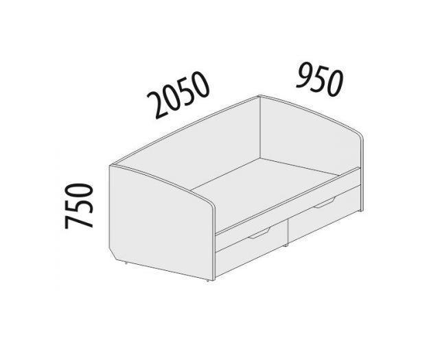 Кровать Тиффани 93.05