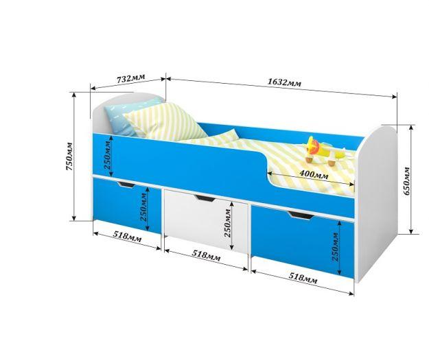 Детская кровать Малыш-мини