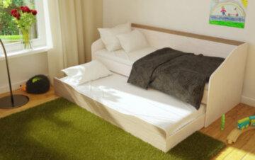 Кровати двухуровневые с выдвижной секцией